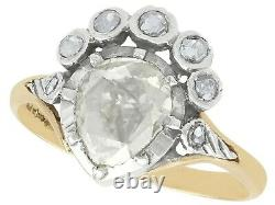 1.59 ct Diamond and 14 ct Yellow Gold Dress Ring Antique and Vintage Dutch