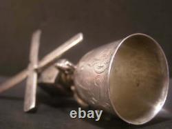 1740 Dutch Sterling Silver Miniature Windmill Bell Novelty WAGER CUP Stein Jug