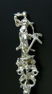 1746 Antique Dutch Silver Spoon Lady of Hope