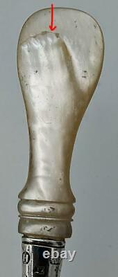 1842 Dutch Antique Silver & Mother Of Pearl Cake Slice