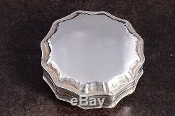 1859 Superb Dutch Netherlands Solid. 833 Silver Peppermint Snuff Box Antique