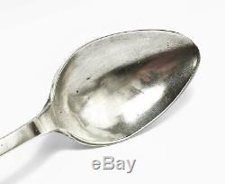 18th Century DUTCH SILVER TABLE SPOON Possibly LEIDEN HALLMARKS