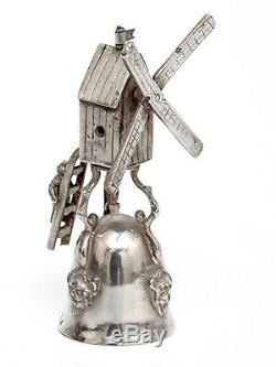 1901 very rare original antique Dutch Silver Berthold Muller Windmill Wager Cup