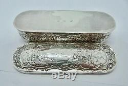 1909 P A SCHROEPFER & Co SOLID SILVER SNUFF BOX 88.6 grams