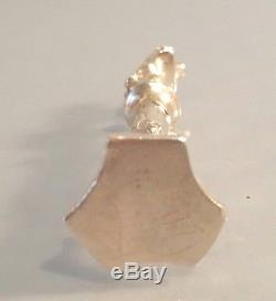 1913 Dutch Art Nouveau silver seal stand a lady bust on stand B H Muller