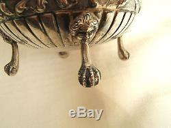 19th DUTCH STERLING SILVER HANDLED CHOCOLATE POT ELEABORATE REPOUSSE EXC QUAL