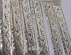 6 DUTCH SOLID SILVER CAKE or/ PASTRY FORKS 1966 17th CENTURY STYLE