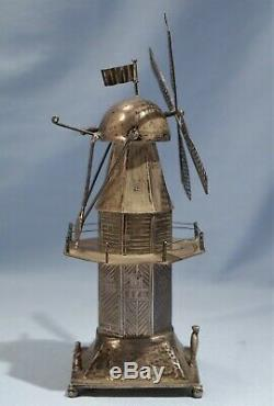 833 Dutch Silver Tea Condiment/Spice Tower in form of Wind-Mill Circa 1941