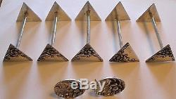 89 pc Dutch Indonesian Yogya. 800 Silver Hammered Floral Repousse Flatware Set