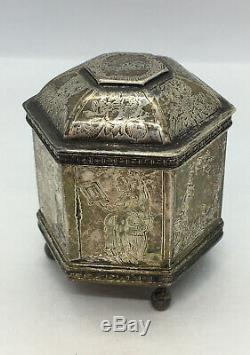 925 Sterling Silver Vintage 1985 MMA Dutch Marriage /Wedding Footed Box 78 Grams