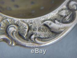ANTIQUE DUTCH STERLING 830 TEA STRAINER withMOVABLE WINDMILL DESIGN