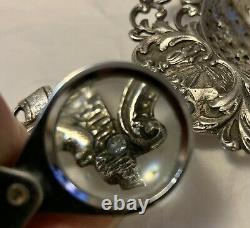 ANTIQUE DUTCH STERLING SILVER TEA STRAINER With MILKMAID COWS ANIMALS