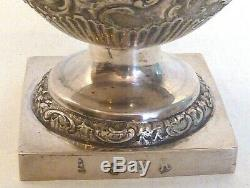 ANTIQUE LARGE SUGAR/SPICE CASTER With HANDCHASED SEASCAPES, DUTCH 1902.833 SILVER