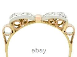 Antique 0.42ct Diamond and 14ct Yellow and Rose Gold Dress Ring Dutch Circa 1925