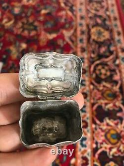 Antique 1851 Dutch Silver Peppermint Box With Spectacular details Hallmarked