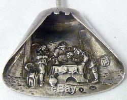 Antique Ca 1918 Sterling 925 Dutch Miniature Scooper Outstanding Marked