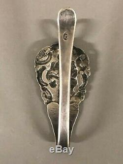 Antique Dutch Coin Silver Large Chatelaine Hook 3 3/4