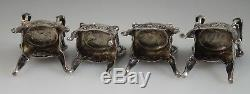 Antique Dutch Dollhouse Silver Miniature Furniture Living Dining Set 54700
