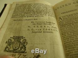 Antique Dutch New Testament Bible With Solid Silver Clasp Gold Edged Year 1818