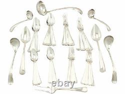Antique Dutch Silver Canteen of Cutlery for Eight Persons 40 pieces