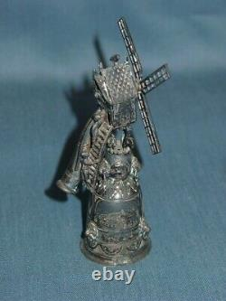 Antique Dutch Silver Ceremonial Wager Cup Windmill
