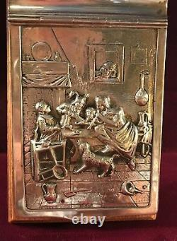 Antique Dutch Silver Topped Note Pad Holder