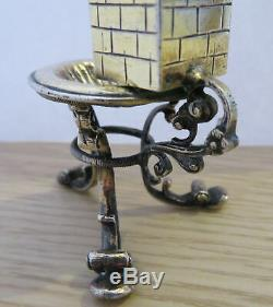 Antique Dutch Silver Toy Water Tower