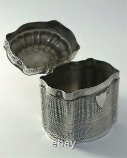 Antique Dutch Solid Silver Peppermint / Lode Rein Scent / Trinket Box 1858