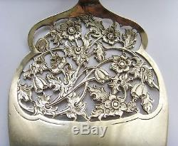 Antique Dutch Solid Silver silver ajour pastry server, Bijkamp Co from 1950
