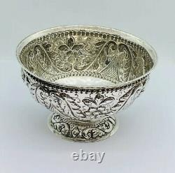 Antique Dutch Sterling Silver 900 Bowl Dish 1890 Weight 110g
