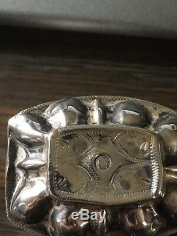 Antique Dutch Sterling Silver Coin Cover peppermint pill Snuff box c 1866