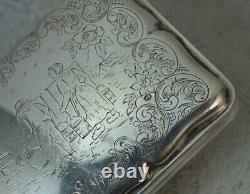 Antique Dutch Sterling Silver Oversized Table Snuff Box