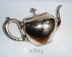 Antique Dutch solid silver Tea Set of Royal Silver company C. Begeer, 1886
