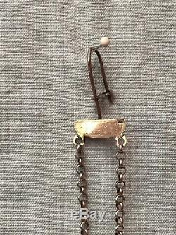 Antique Silver 1814 Dutch Chatelaine Skirt Lifter Hook Florally Decorated