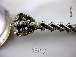 Antique Solid Silver ORNATE DUTCH SPOON 18th. Century or earlier