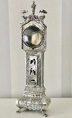 Antique Solid silver Dutch pocket watch stand