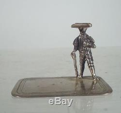 Antique Sterling Silver Dutch Colonial Soldier Table Miniature Toy Hallmark