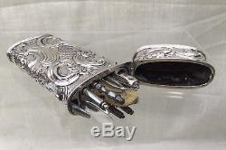 Antique c1750 Dutch Silver Etui Necessaire Complete with Tools. Sewing Interest