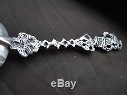 Apostle Spoon Sterling Silver, Cast & Pierced Dutch Circa 1815, Real Marks