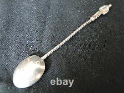 Apostle Spoons, Dutch Sterling Silver, Unmarked, Twist Handle, 1860 Antique
