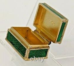 Austrian silver and picture enamel pill box, gold washed interior circa 1872