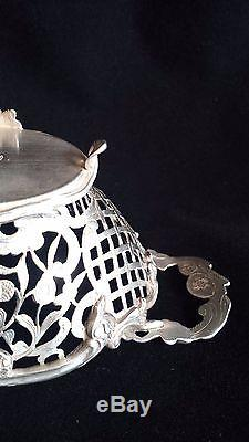 Beautiful Antique Dutch Silver Sweetmeat Floral Basket 158 gr. Or 5.6 oz