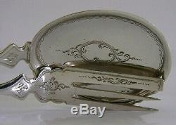 DUTCH 833 SOLID SILVER CAKE PASTRY SERVERS SERVING SET ANTIQUE 1900 7 inch 72g