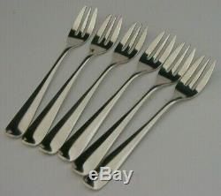 DUTCH 835 SOLID SILVER OYSTER or CAKE FORKS c1950's