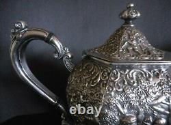 Dutch Colonial Style Silver Plated Coffee Pot