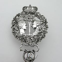 Dutch Huge Serving Spoon Royal Family Crowned 833 Silver 1896