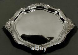 Dutch Silver Tray 1856 SIGNED HAND DECORATED 45 OZ