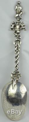 Dutch c. 1710 Apostle Sterling Silver Rat Tail Spoon 18th Century