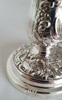 Dutch silver candlesticks. Dated 1967. Possibly H. Hooykaas. 833 standard purity
