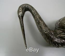 Dutch silver spice box in the form of an ibis